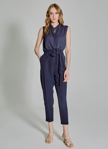 People By Fabrika Bağlama Detaylı Kolsuz Bluz Lacivert